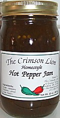 Hot Pepper Jam- This jam remains very popular as it has a nice flavorful  kick and is delicious on a bagel with cream cheese- On sale at this time for $6.95 ea.
